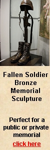 Fallen Soldier Bronze Memorial Sculpture